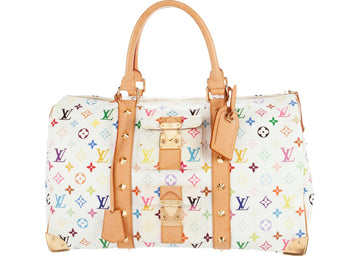 Louis Vuitton Keepall Monogram Multicolore 45 White