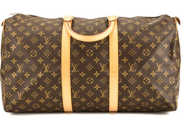 Louis Vuitton Keepall Monogram Without Accessories 50 Brown