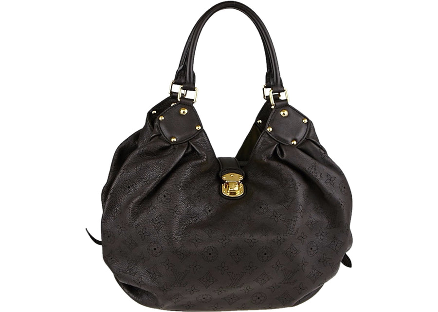 Louis Vuitton L Hobo Monogram Mahina Chocolate