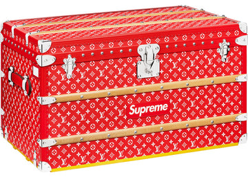 Louis Vuitton x Supreme Malle Courrier Trunk Monogram 90 Red