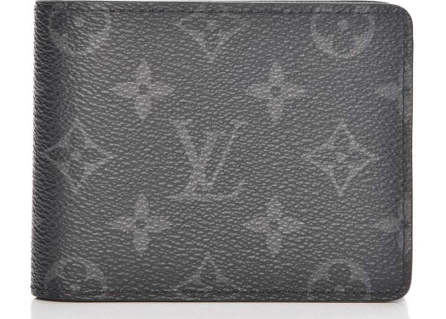 Louis Vuitton Multiple Wallet Monogram Eclipse Grey