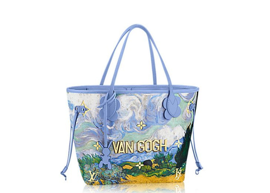Louis Vuitton Neverfull Van Gogh Masters Jeff Koons MM Lavender Multicolor