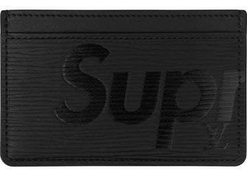 Louis Vuitton x Supreme Porte Carte Simple Epi Black