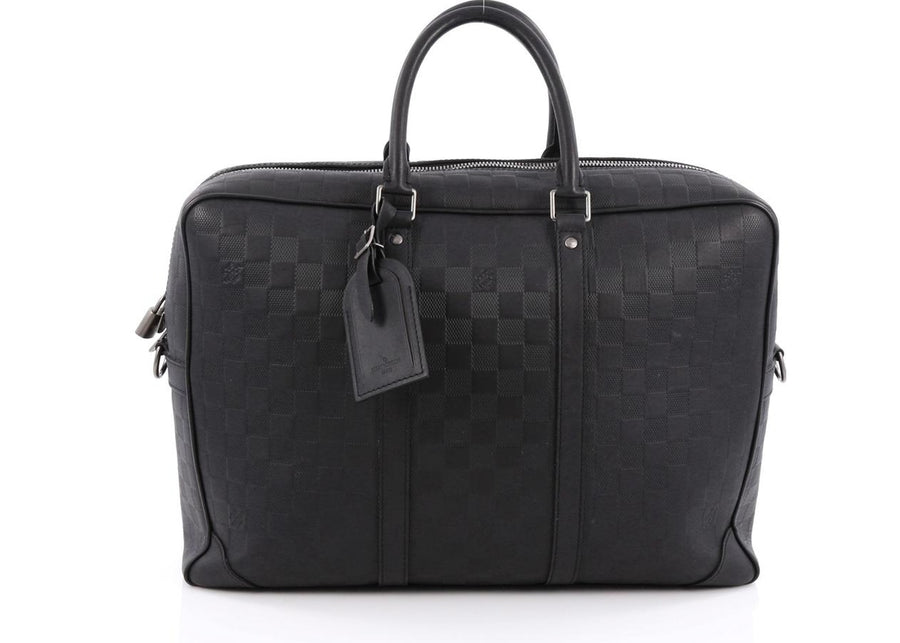 Louis Vuitton Porte-Documents Voyages Damier Infini GM Black