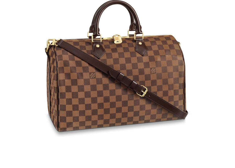 Louis Vuitton Speedy Bandouliere Damier Ebene With Accessories 35 Brown