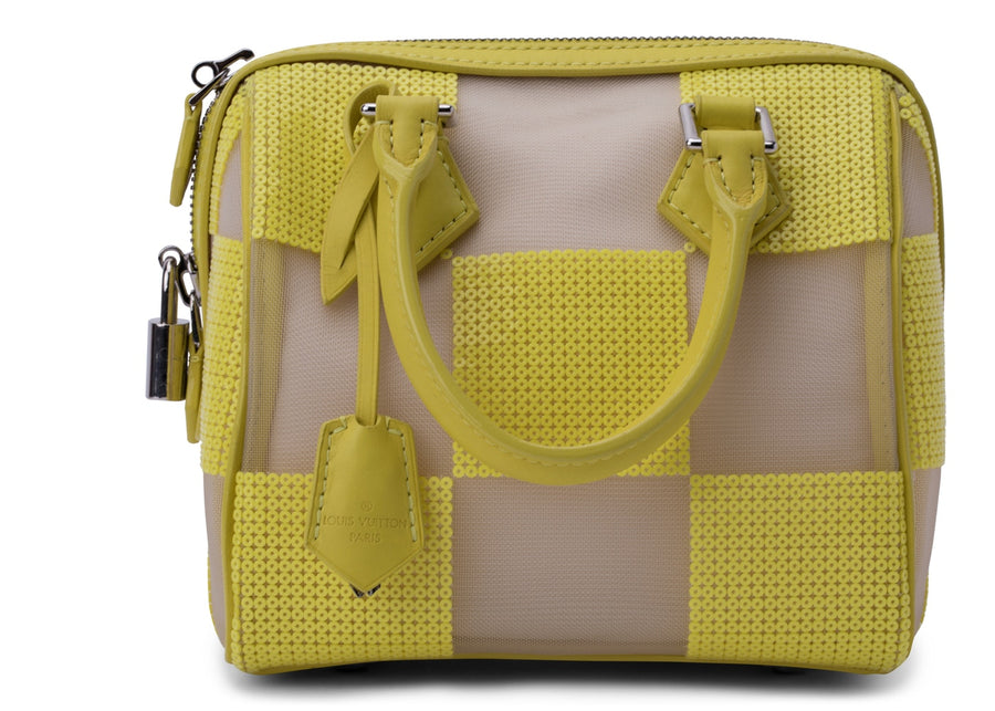 Louis Vuitton Speedy Cube Damier Optic Mesh Yellow