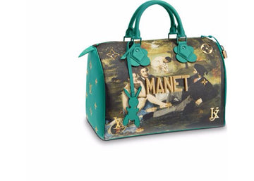Louis Vuitton Speedy Manet Masters Jeff Koons 30 Emerald Multicolor