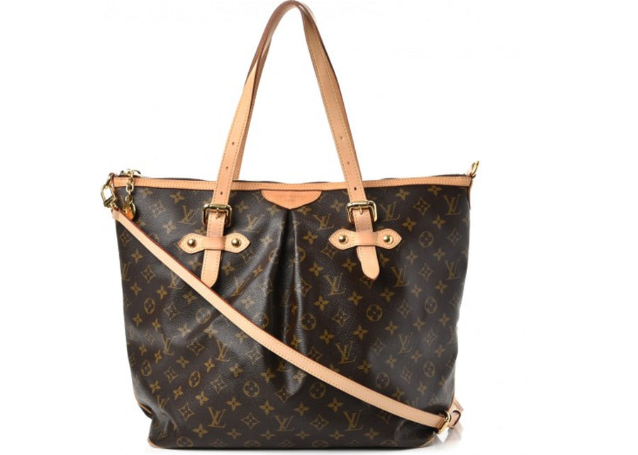 Louis Vuitton Tote Palermo Monogram GM Brown (With Strap)