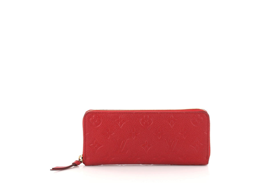 Louis Vuitton Wallet Clemence Monogram Empreinte Red