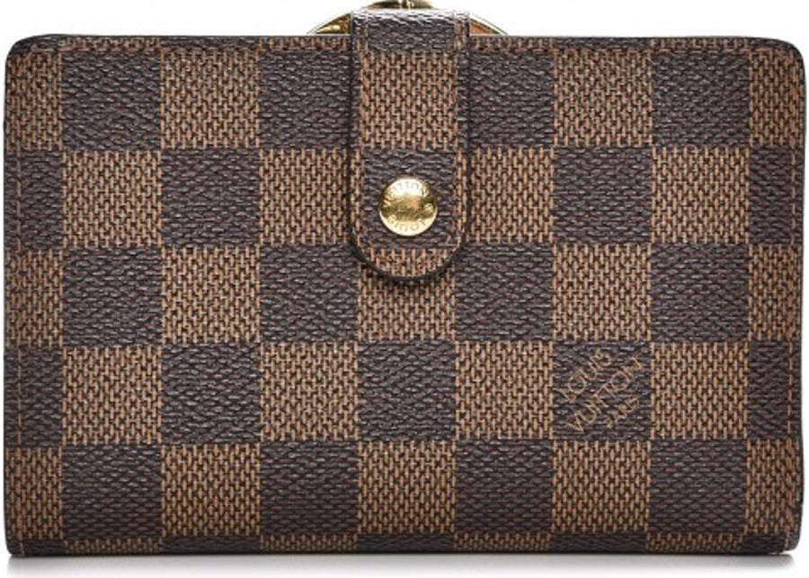 Louis Vuitton Wallet French Purse Damier Ebene Brown