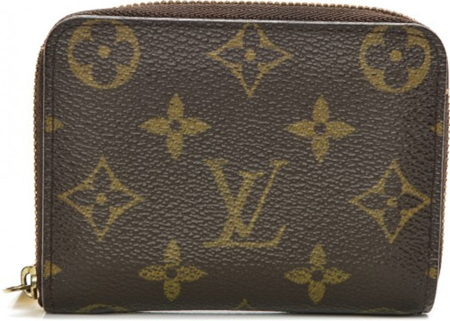 Louis Vuitton Wallet Zippy Coin Purse Monogram Brown