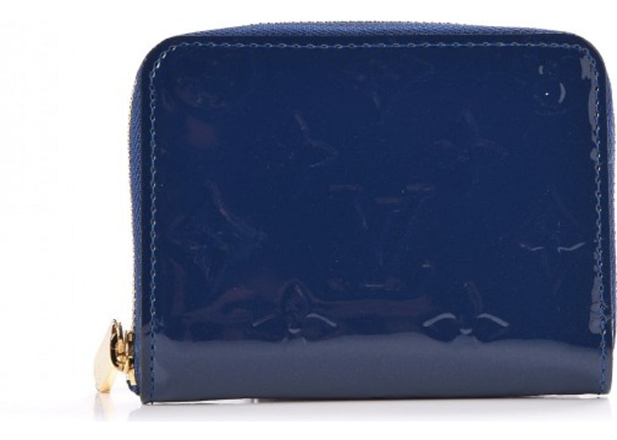 Louis Vuitton Zippy Coin Purse Monogram Vernis Grand Bleu