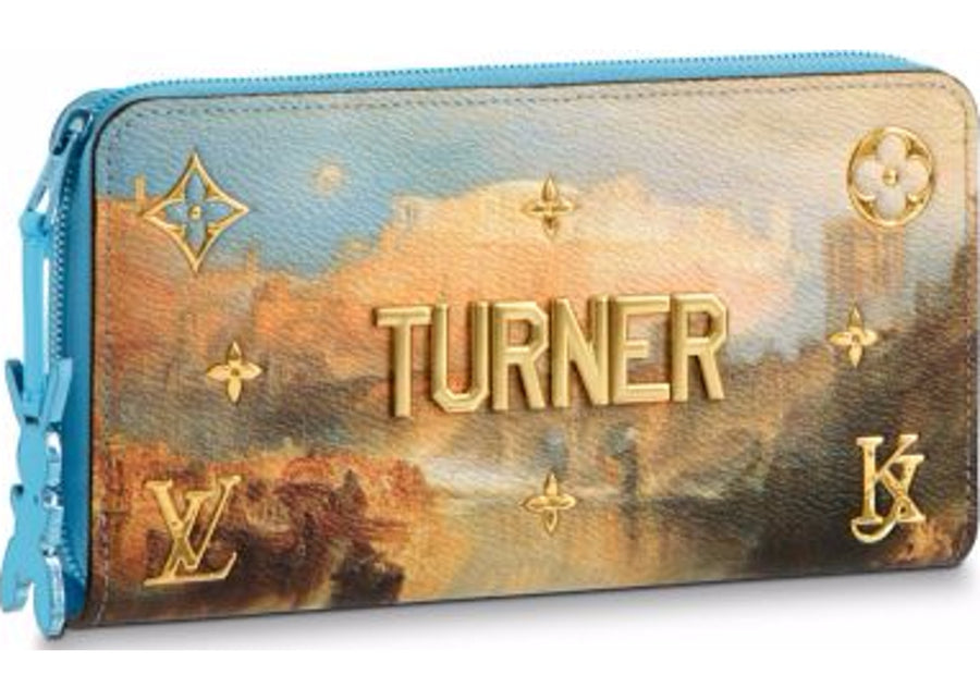 Louis Vuitton Zippy Wallet Turner Masters Jeff Koons Sky Blue Multicolor