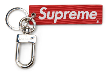 Louis Vuitton x Supreme Epi Keychain Red