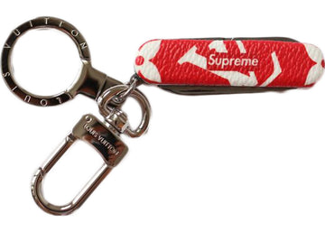 Louis Vuitton x Supreme Pocket Knife Key Chain Red