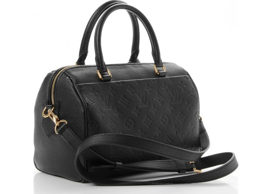 Louis Vuitton Speedy Bandouliere Monogram Shadow 40 Black