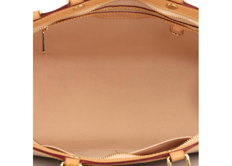 Louis Vuitton Tote Brea Monogram Vernis MM Nude