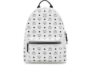 MCM Backpack Visetos Stark Monogram Medium White