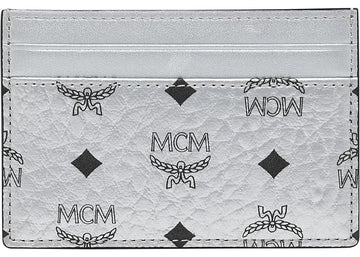 MCM Card Case Visetos Mini Berlin Silver