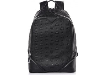 MCM Backpack Monogram Ottomar Leather Black
