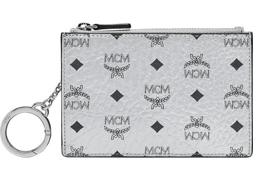 MCM Key Pouch Visetos Original Berlin Silver