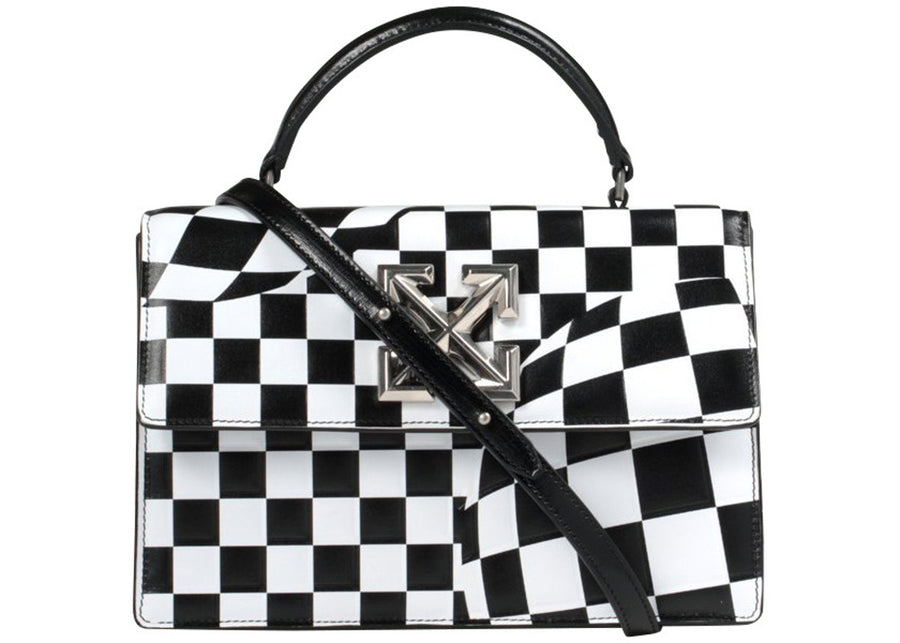 OFF-WHITE 1.4 Jitney Bag Checked Black White
