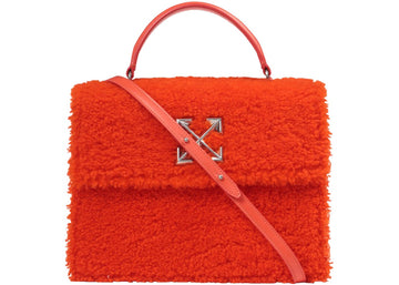 OFF-WHITE 2.8 Jitney Bag Furry Orange