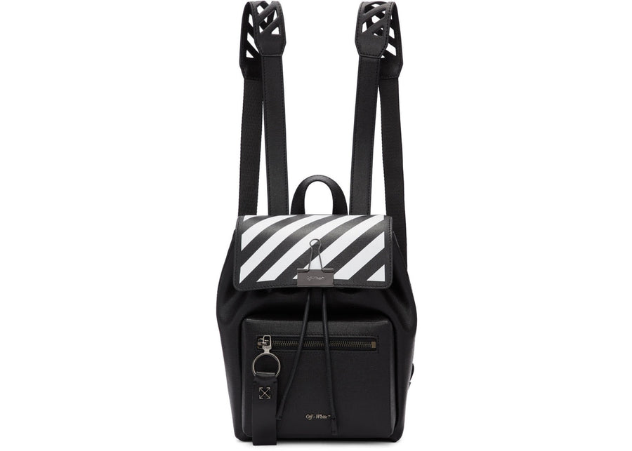 OFF-WHITE Backpack Diag Black White
