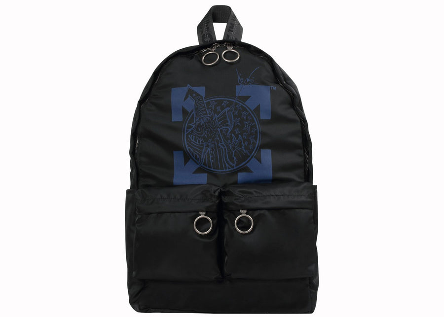 OFF-WHITE Backpack Wizard Black Blue
