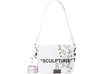 OFF-WHITE Binder Clip Bag Cotton Flower Sculpture White