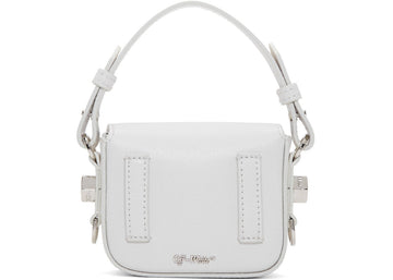 OFF-WHITE Binder Clip Bag Diag Baby White Black