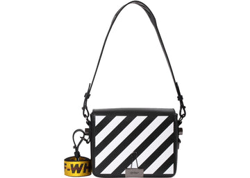 OFF-WHITE Binder Clip Bag Diag Black White Yellow