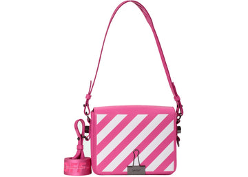 OFF-WHITE Binder Clip Bag Diag Fuchsia White