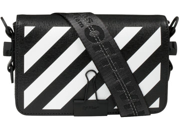 OFF-WHITE Binder Clip Bag Diag Mini Black White
