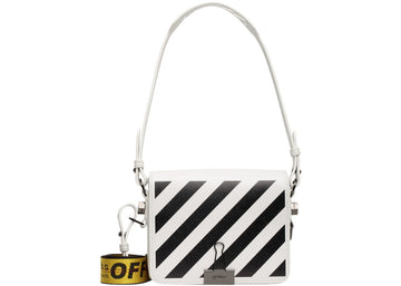 OFF-WHITE Binder Clip Bag Diag White Black Yellow
