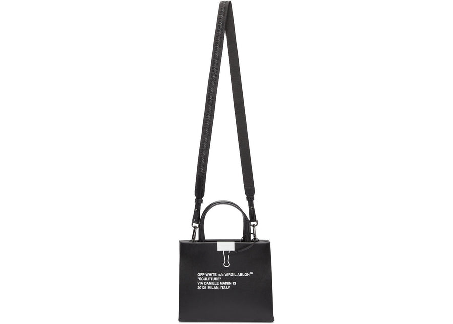 OFF-WHITE Box Bag Mini Black White