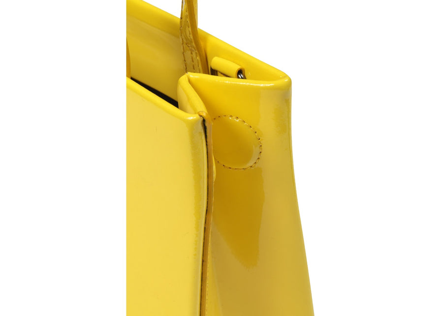OFF-WHITE Box Bag Patent Mini Yellow Black