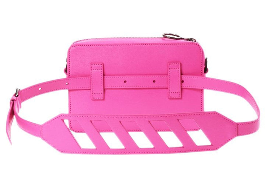 OFF-WHITE Camera Bag Diag Fuchsia White