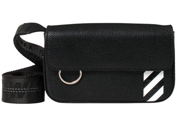 OFF-WHITE Crossbody Flap Bag Black White