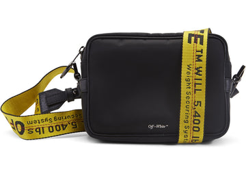 OFF-WHITE Crossbody Nylon Leather Trim Black Yellow