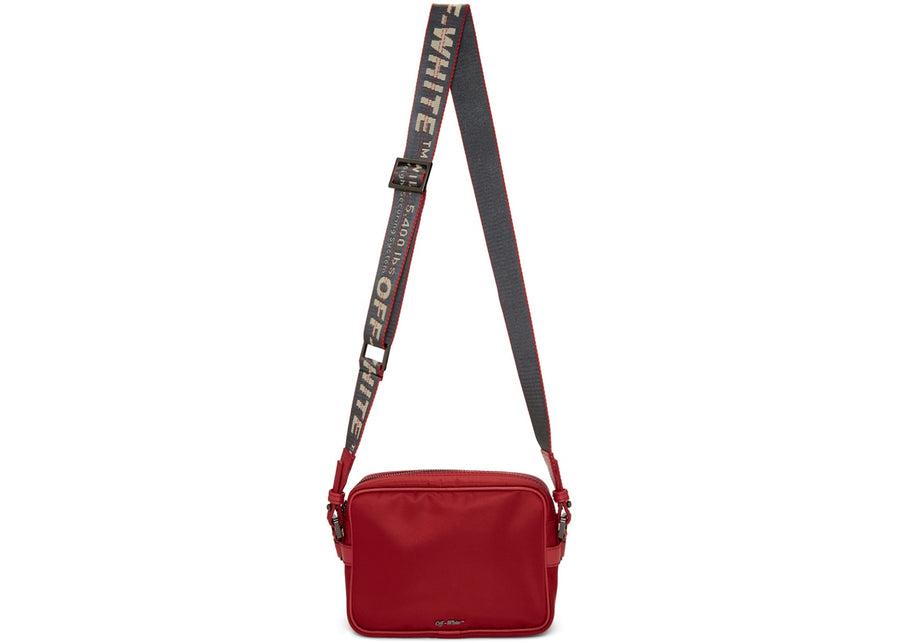 OFF-WHITE Crossbody Nylon Leather Trim Red