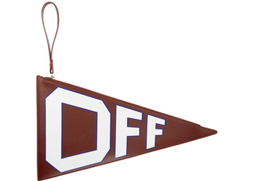 OFF-WHITE Flag Pouch Burgundy
