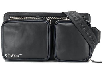 OFF-WHITE Hip Bag Leather Black