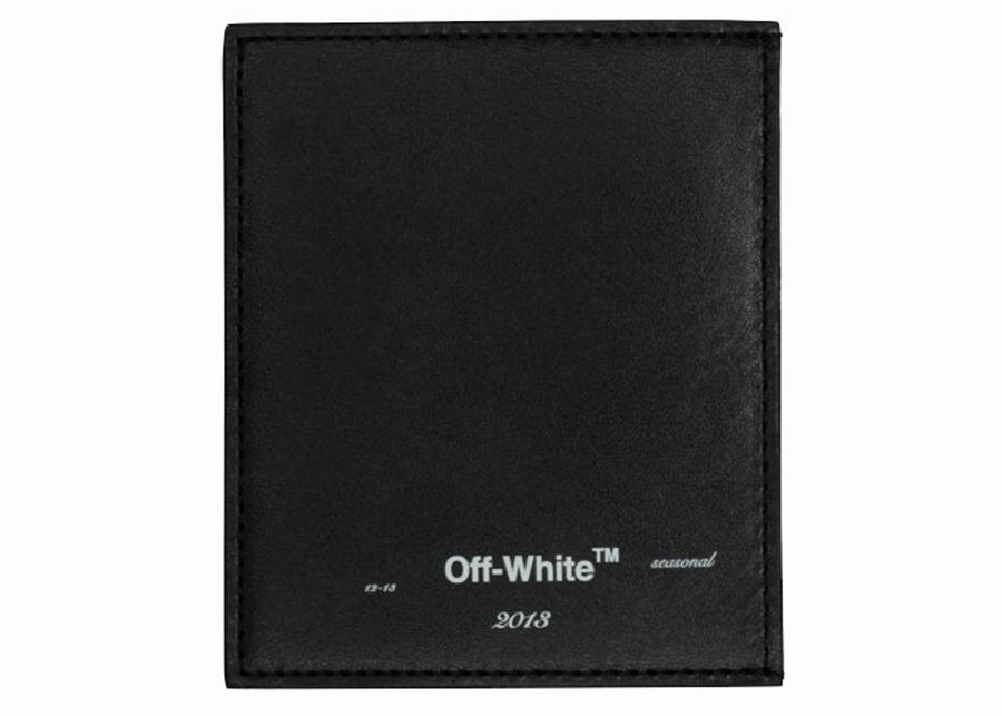 OFF-WHITE Logo Card Holder Black White