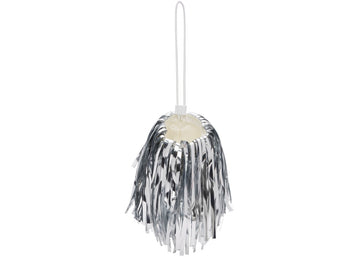 OFF-WHITE Pompom Pouch Mini Silver