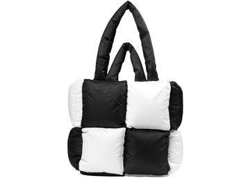 OFF-WHITE Puffy Bag Nylon Checked Small Black White