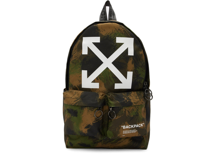 OFF-WHITE Quote Backpack Camo