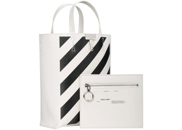 OFF-WHITE Tote Diag Off White Black