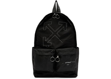 OFF-WHITE Unfinished Backpack Black Silver