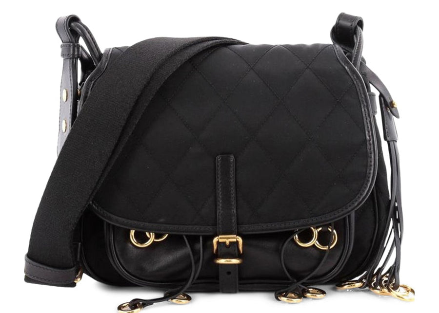 Prada Messenger Corsaire Quilted Black